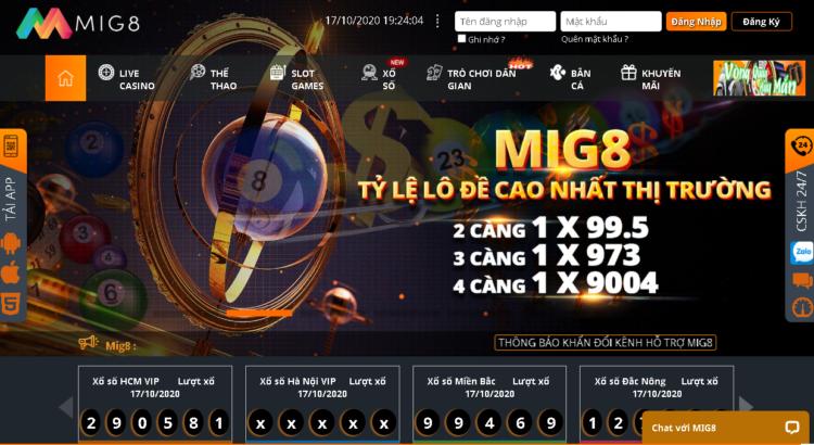 MIG8 – Nhà Cái Hàng Đầu Châu Á – Nhận Quà Thả Ga Cực Víp