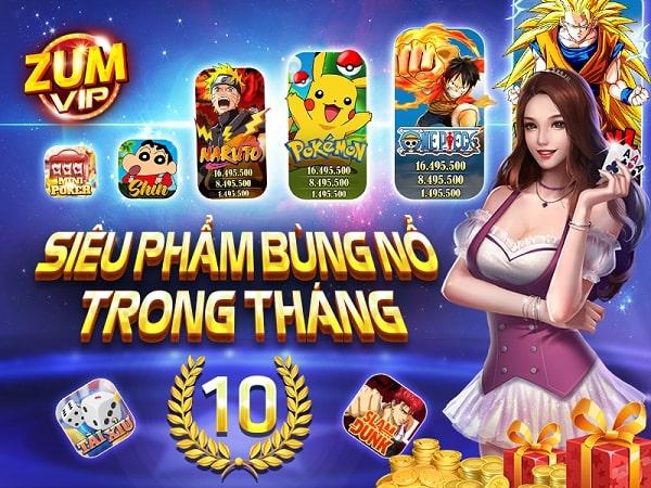 ZumVIP – Cổng game nổ hũ – Đổi thưởng đẳng cấp game slot 2021