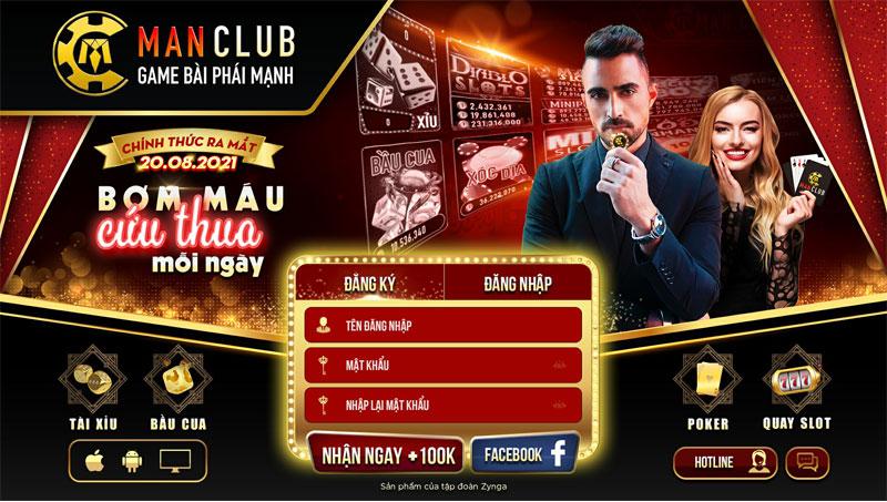 Man club – Cổng game bài nổ hũ Man Club – Huyền thoại nhất lịch sử