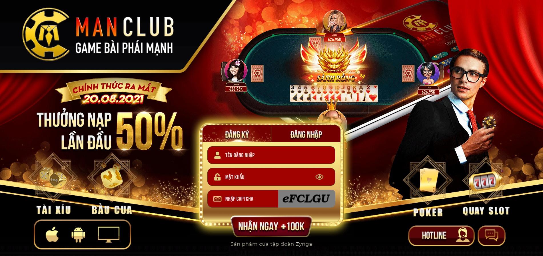 Game bài đổi thưởng ManClub